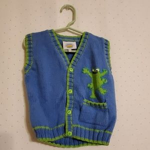 Vintage | Frog Knit Sweater Vest